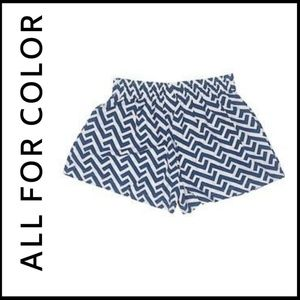 NWT ALL FOR COLOR  Zig Zag Shorts